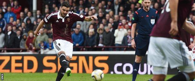 Alim Ozturk netted Hearts' second with a deflected free-kick