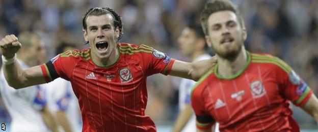 Garth Bale and Aaron Ramsey