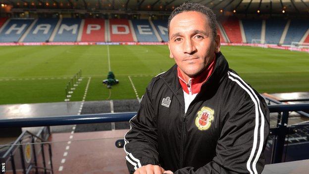 Gibraltar manager David Wilson was born in Glasgow