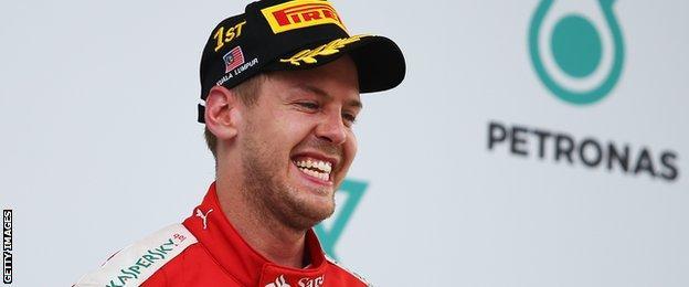 Sebastian Vettel smiles