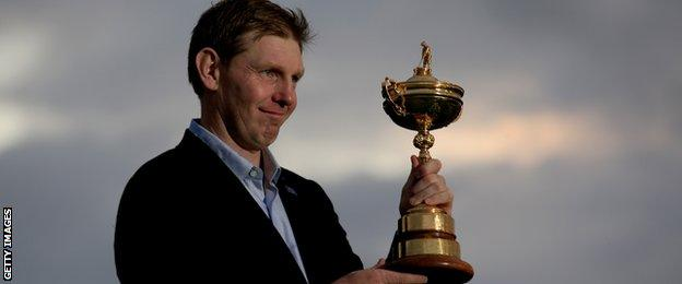 Stephen Gallacher was a Ryder Cup winner on home soil last year