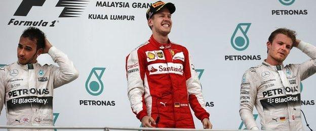 Lewis Hamilton, Sebastian Vettel & Nico Rosberg