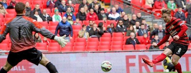 Jay Harris fires Wrexham 2-0 ahead