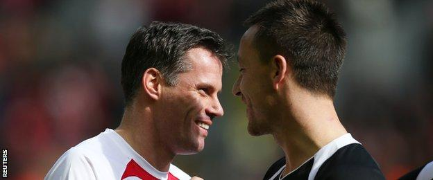 Jamie Carragher and John Terry