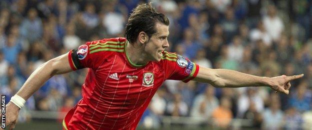 Wales forward Gareth Bale