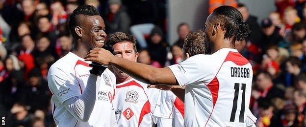 Mario Balotelli and Didier Drogba
