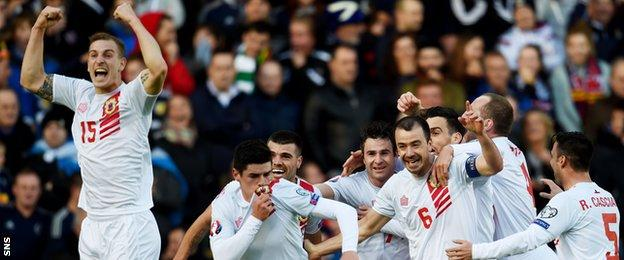 Gibraltar temporarily rocked Hampden when Lee Casciaro equalised