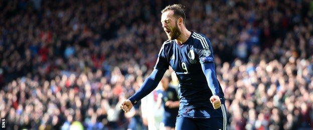 Steven Fletcher scored the first Scotland hat-trick since Colin Stein's four goals against Cyprus in 1969