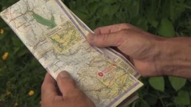 Close up of a map in hands