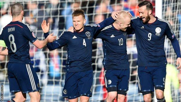 Scotland remain third in Group D after beating Gibraltar at Hampden