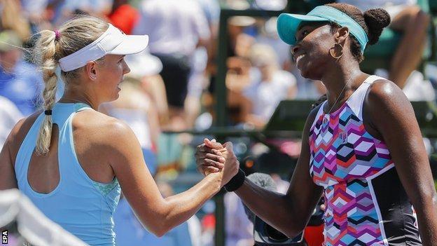 Caroline Wozniacki and Venus Williams