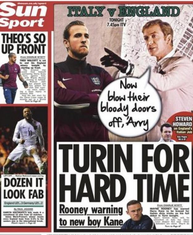 The Sun's backpage on Tuesday