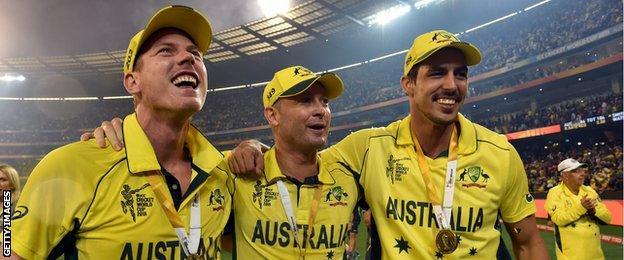Australia celebrate winning World Cup
