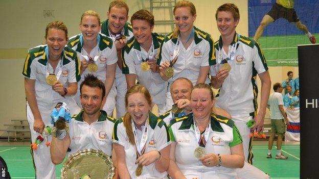 Guernsey badminton team