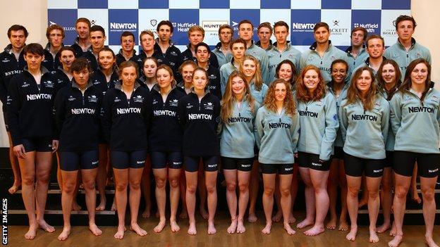 Oxford and Cambridge crews