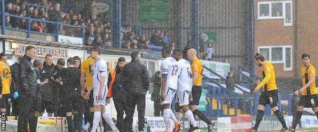 Bury and Southend players
