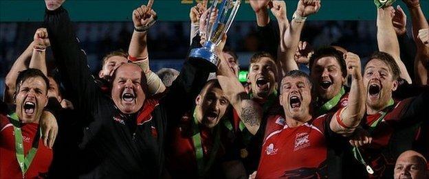 London Welsh celebrate