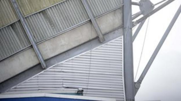 Cracks have appeared in the side of the West Stand at Windsor Park