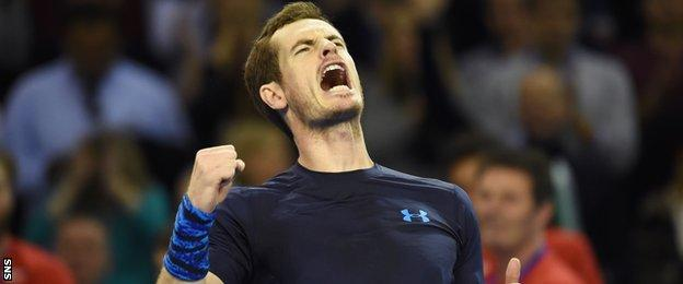 Andy Murray was recently victorious in front of his home crowd in Glasgow while playing in the Davis Cup