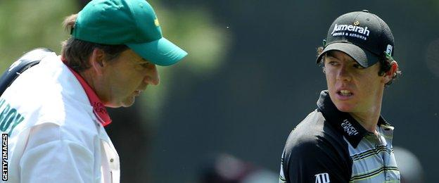 Rory McIlroy's 2011 Masters challenge unravelled when he had a disastrous 80 in the final round