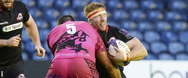 Roddy Grant carries into contact against London Welsh