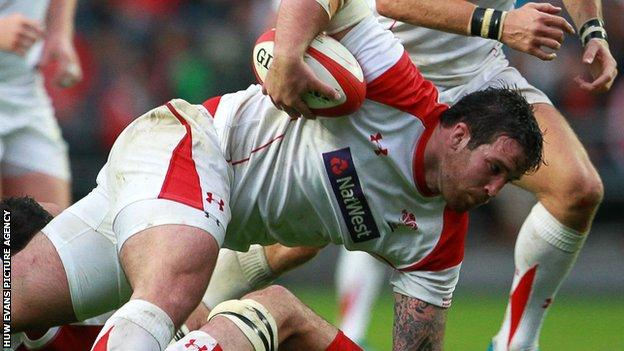 Owen Williams played in a Wales trial match ahead of Warren Gatland's side 2014 summer tour to South Africa