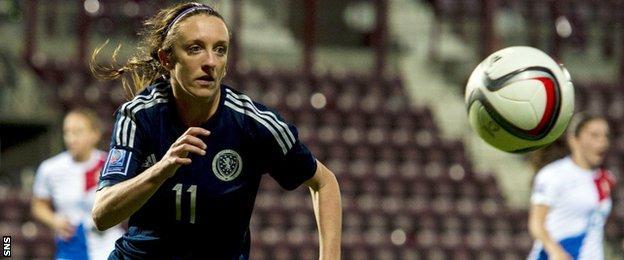 Scotland forward Lisa Evans