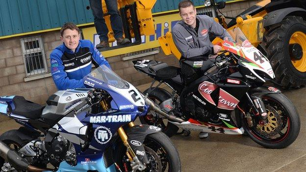 Dean Harrison and Jamie Hamilton