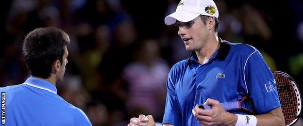 Novak Djokovic and John Isner