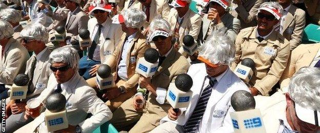 It has become customary for some spectators to dress as Richie Benaud during the annual Sydney Test
