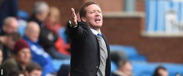Gary Locke took charge of Kilmarnock for the first time since taking the manager's job permanently