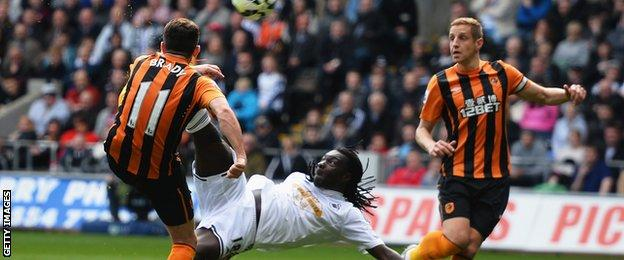Swansea's Bafetibis Gomis