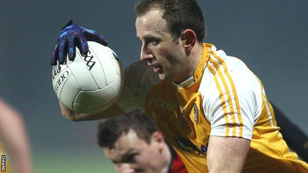 Michael Pollock was among the Antrim scorers against Offaly