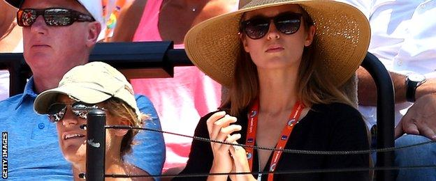 Amelie Mauresmo and Kim Sears