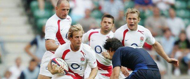 Nick Abendanon's last appearance in an England shirt was against France at Twickenham in August 2007