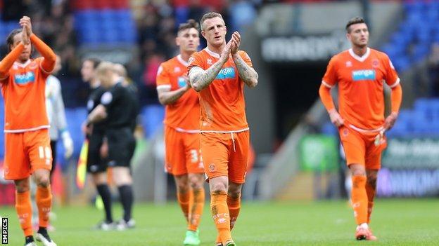 Blackpool captain Peter Clarke