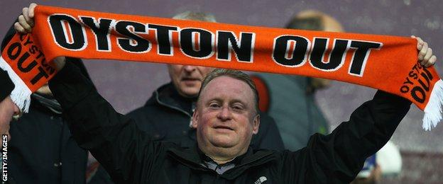 Blackpool fan protests