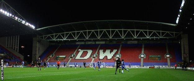 Wigan's average attendances only exceeded 20,000 fans for one season in the Premier League