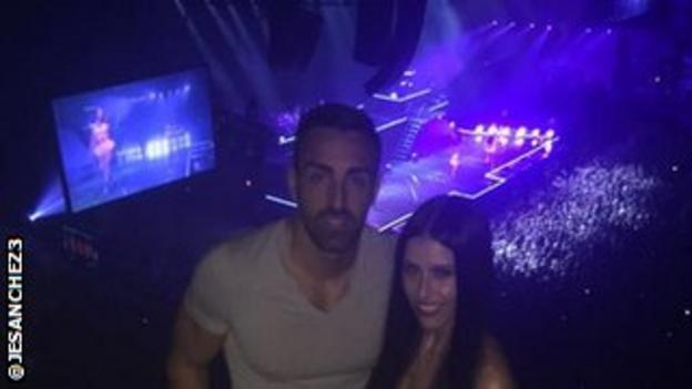 Jose Enrique's Twitter picture from Nicki Minaj concert