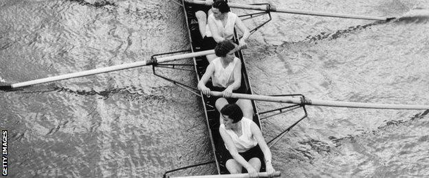 Women's Boat Race in the 1930s