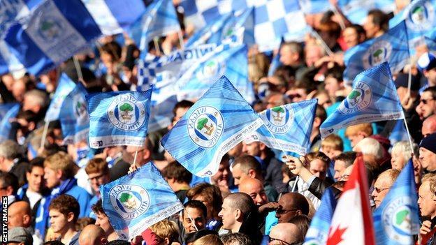 Wigan fans at Wembley