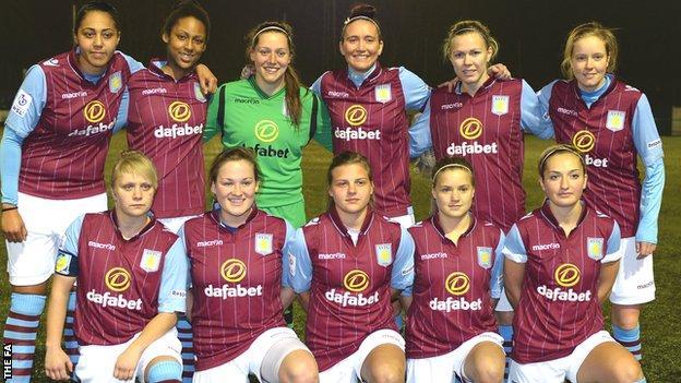 Aston Villa ladies team photo ahead of WSL 2 season opener against Everton