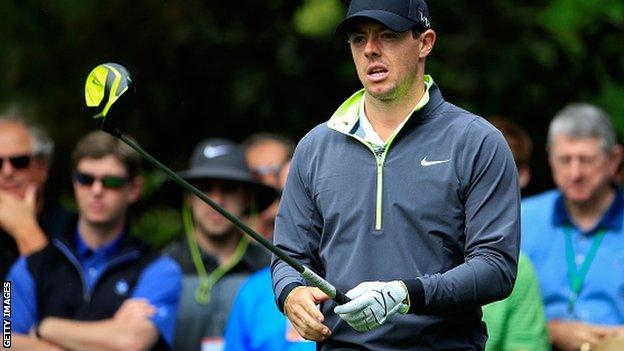 Rory McIlroy at Augusta