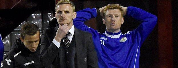 It was grim viewing for Gary Teale and David Longwell at Fir Park
