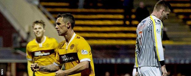 Scott McDonald celebrates his goal against St Mirren