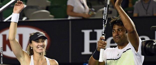 Martina Hingis and Leander Paes