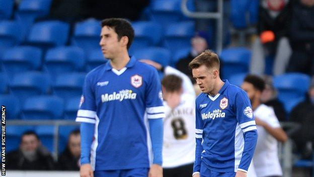 Peter Whittingham (left) and Craig Noone (right) of Cardiff City