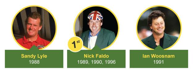 UK winners at the Masters from 1988-1996