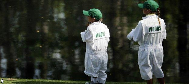 Tiger Woods's children Charlie & Sam