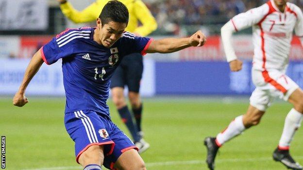 FC Tokyo striker Yoshinori Muto